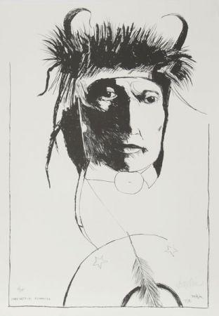 Lithographie Baskin -  Chief Wets It - Assinnboine