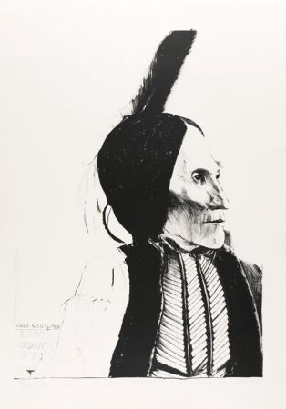 Lithographie Baskin - Chief White Man / Kiowa
