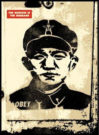 Sérigraphie Fairey - Chinese Stencil