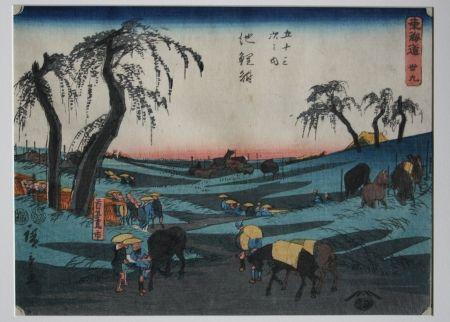 Gravure Sur Bois Hiroshige - Chiriu