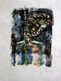 Lithographie Aizpiri - Christ