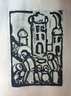 Eau-Forte Et Aquatinte Rouault - Christ among the poor