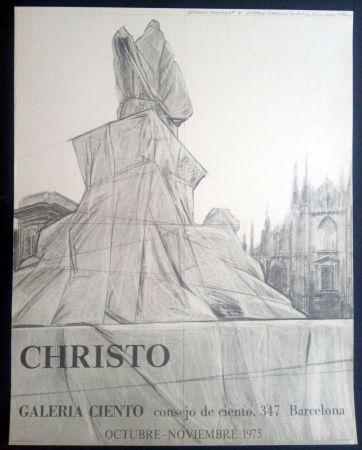 Affiche Christo - Christo - Galeria Ciento 1975