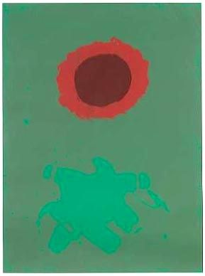 Sérigraphie Gottlieb - Chrome Green (1972)