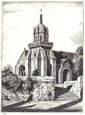 Gravure Strang - Church of Perros-Guirec