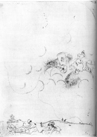 Eau-Forte Chagall - Cicicov's Dream