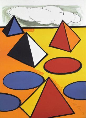 Lithographie Calder - Ciel d'orage - 1976