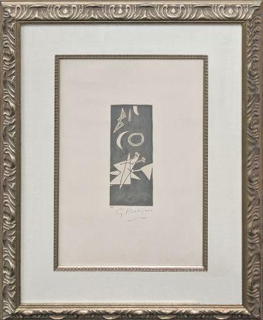 Lithographie Braque - CIEL GRIS II