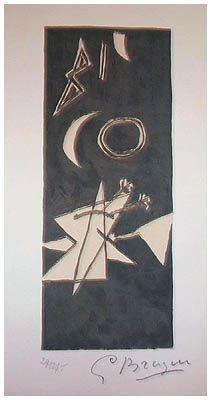 Lithographie Braque - Ciel Gris II (1959)