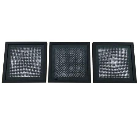 Aucune Technique Vasarely - Cinétiques VI Black 3 works
