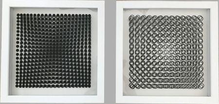 Aucune Technique Vasarely - Cinétiques VI White 2 works