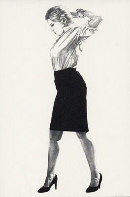 Lithographie Longo - Cindy
