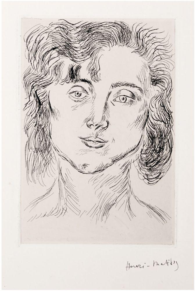Eau-Forte Matisse - CINQUANTE DESSINS. GRAVURE ORIGINALE SIGNÉE : La fille de l'artiste (1920).