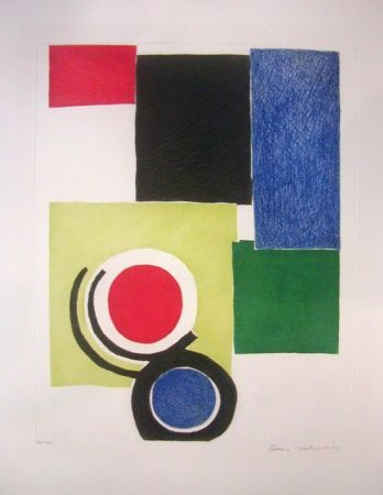 Gravure Delaunay - Circle Composition