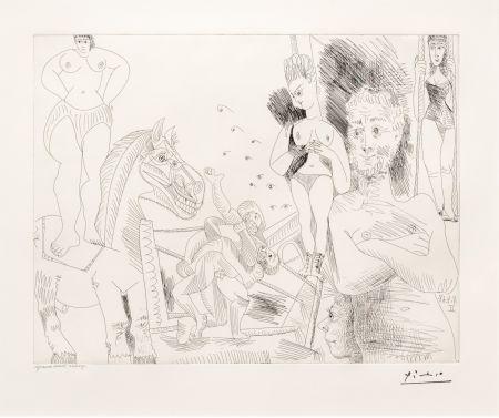 Gravure Picasso - Cirque et Catch