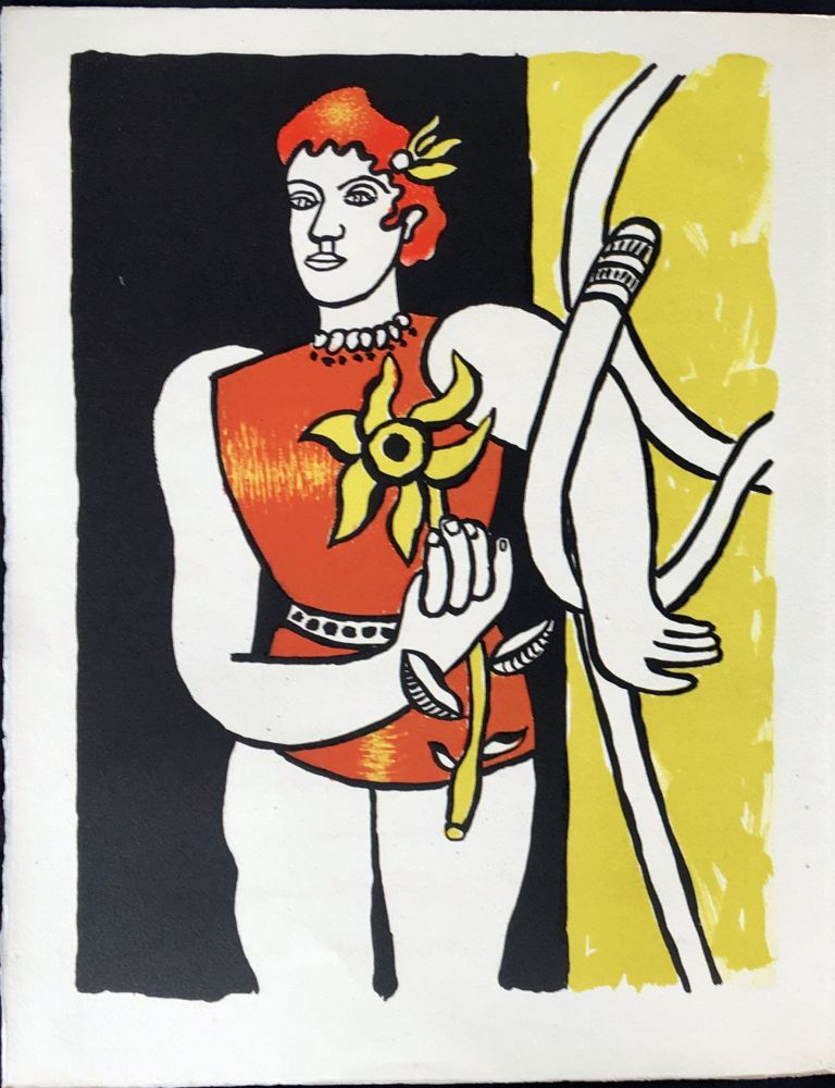 Fernand Lithographie De LegerCirqueJongleuse Au Tournesol1950 9IEWeDH2Y