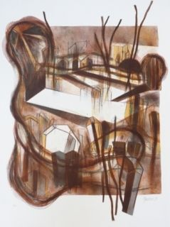 Lithographie Macotela - Ciudad y sombras