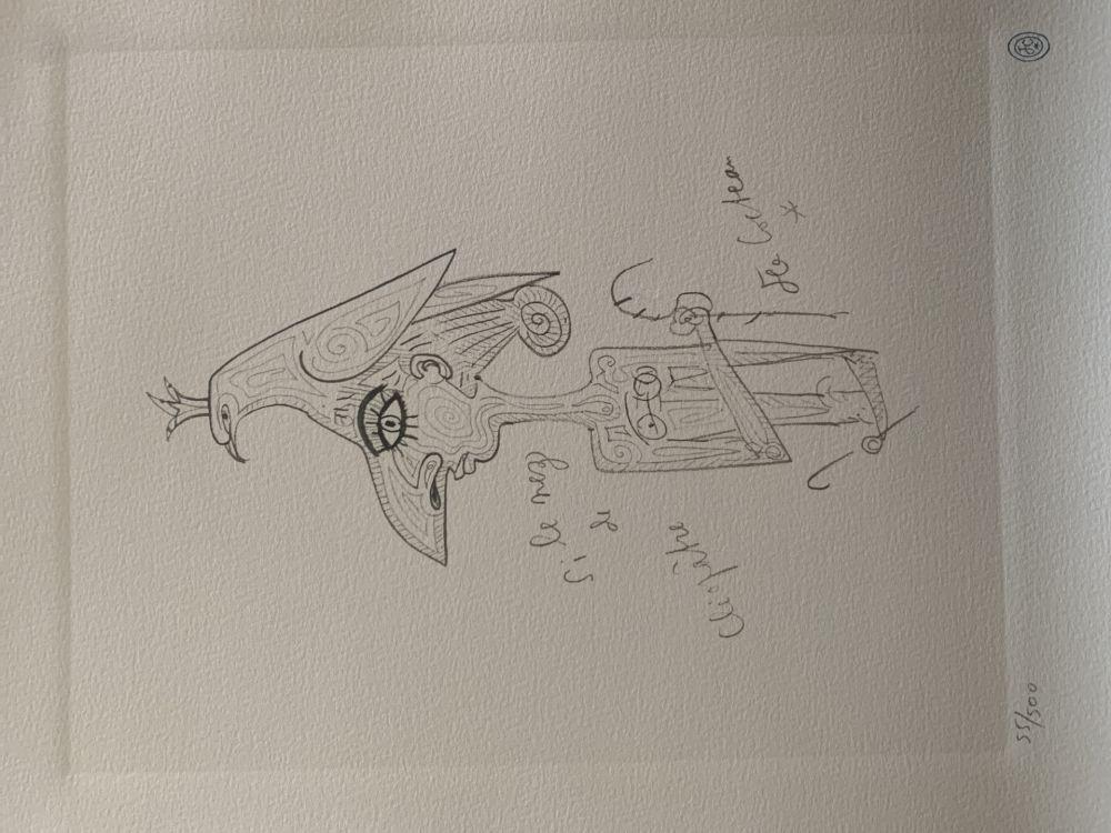 Lithographie Cocteau - Cléopatre hommage à Jean Cocteau