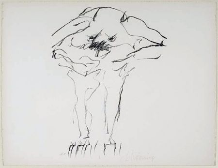 Aucune Technique De Kooning - Clam Digger from Portfolio 9