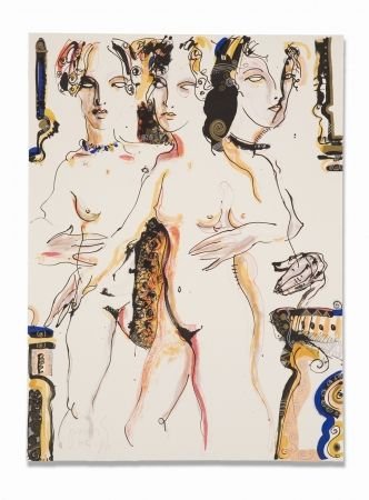 Lithographie Barbera - Clandestina