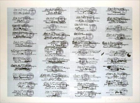 Lithographie Gasiorowski - Classe de 3ème