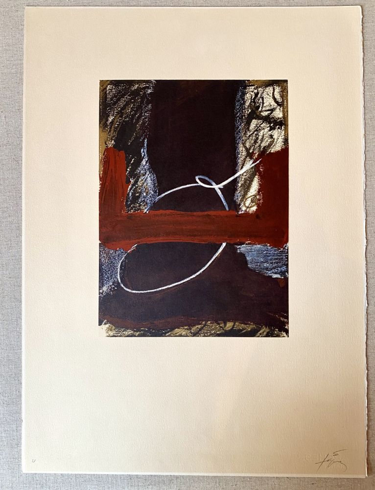 Lithographie Tàpies - Clau 7