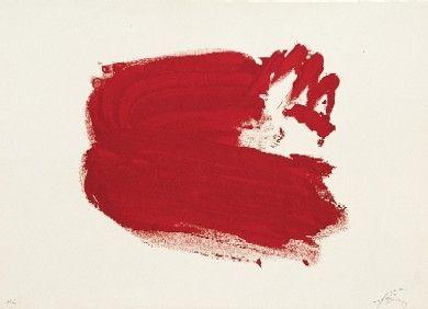 Lithographie Tàpies - Clau del Foc 4