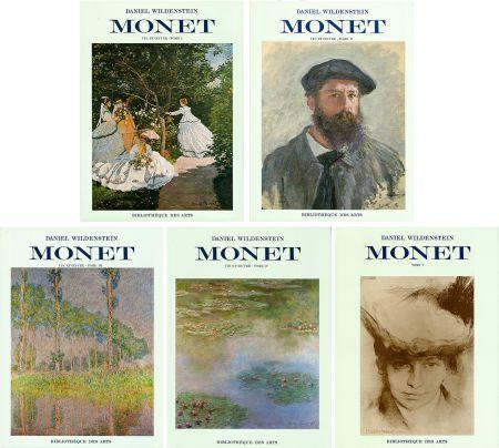 Livre Illustré Monet - CLAUDE MONET. CATALOGUE RAISONNÉ (Peintures, pastels et dessins). 5 volumes. 1974-1991