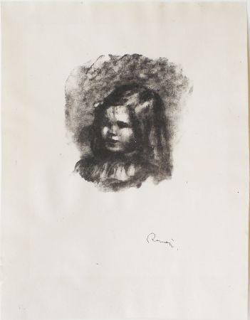 Lithographie Renoir - Claude Renoir, tourné à gauche