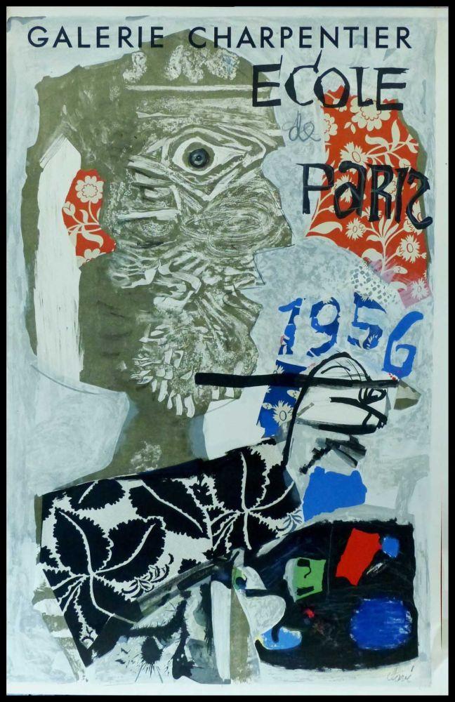 Affiche Clavé - CLAVÉ - ECOLE DE PARIS, GALERIE CHARPENTIER