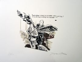 Sérigraphie Pettibon - Click My Ruby Slippers