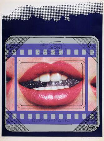 Sérigraphie Tilson - Clip O Matic Lips
