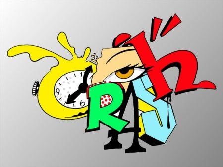 Sérigraphie Crash - Clock 2