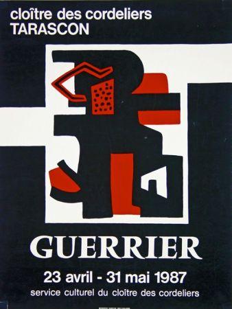 Lithographie Guerrier - Cloitre des Cordeliers Tarascon