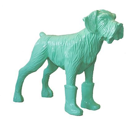 Multiple Sweetlove - Cloned pistachio dog with plastic boots