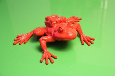 Multiple Sweetlove - Cloned RED Aluminum FROG with backpack