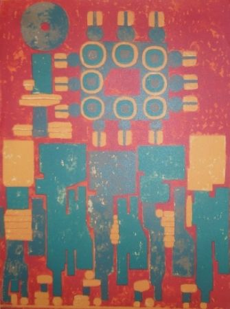 Lithographie Courtin - Clos