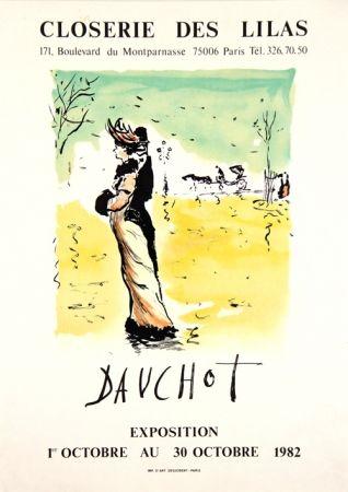 Lithographie Dauchot - Closerie des Lilas