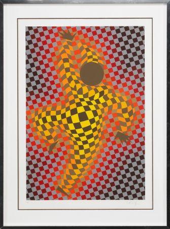 Sérigraphie Vasarely - Clown