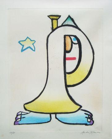 Eau-Forte Et Aquatinte François - Clown à la trompette