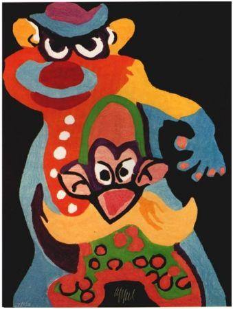Gravure Sur Bois Appel - Clown Anti-Robot