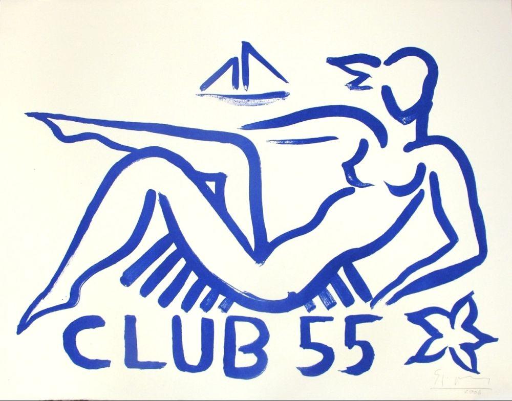 Lithographie Szczesny - Club 55