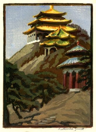Gravure Sur Bois Jowett  - Coal Hill, Peking