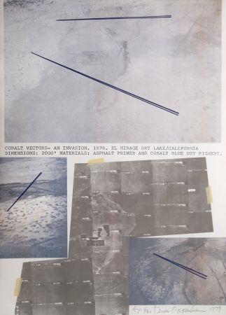 Lithographie Oppenheim - Cobalt Vectors