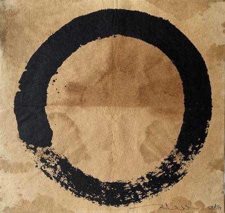 Sérigraphie Murakami - Coffee Zen Enso: Black