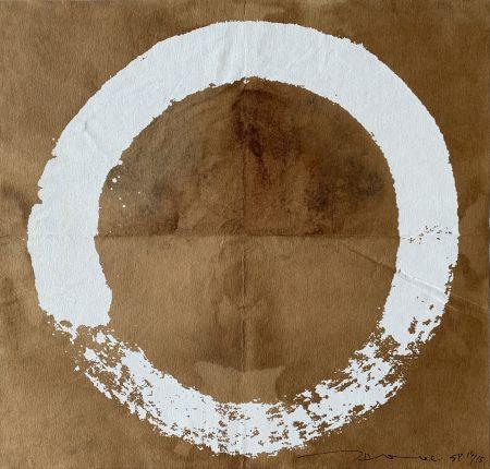 Sérigraphie Murakami - Coffee Zen Enso: White