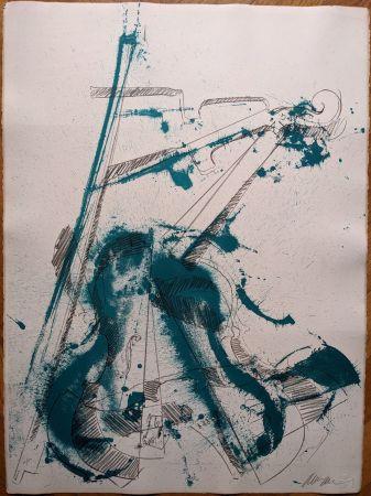 Lithographie Arman - Colère de violon I