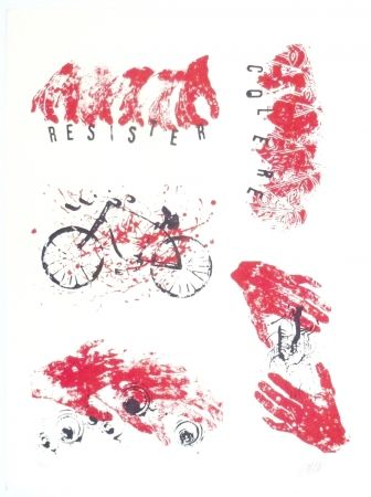 Lithographie Arman - Colère, Résister