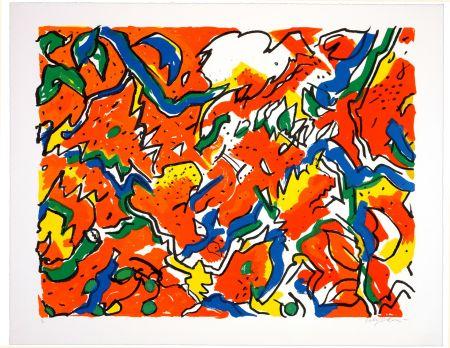 Lithographie Wyckaert - Colchiques euphoriques