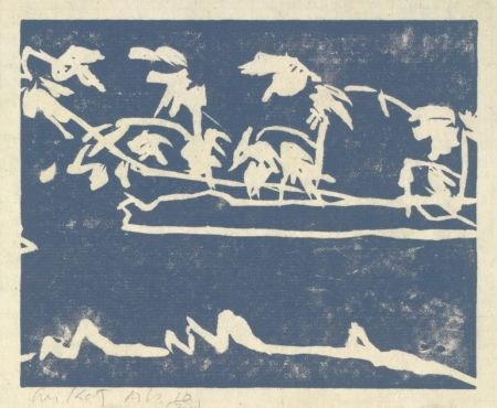 Linogravure Katz - Coleman Pond I